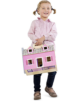Melissa & Doug Fold & Go Wooden Dollhouse - Characters included! Dolls Houses