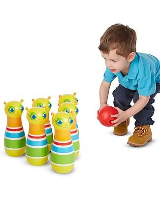 Melissa & Doug Giddy Buggy Bowling Set - 6 Pins + Ball Outdoor Games & Toys