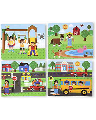 Melissa & Doug Magnetic Wooden Matching Picture Game Figures & Playsets