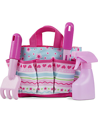 Melissa & Doug Petals Bright Tote Set - Complete with plastic tools! Gardening Toys
