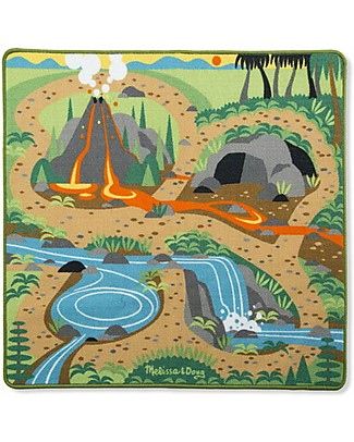 Melissa & Doug Play Rug Land of Dinosaur - 4 Pieces Playmats