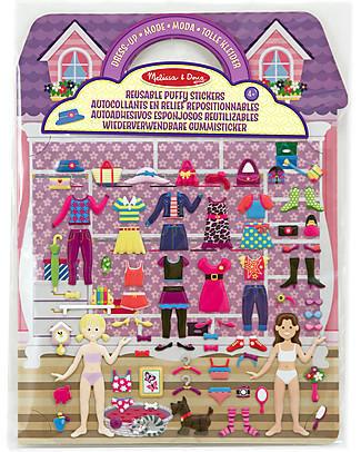 Melissa & Doug Reusable Puffy Stickers - Dress-Up - 76 Stickers Story Making Games