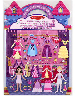 Melissa & Doug Reusable Puffy Stickers - Princesses - 67 Stickers Art & Craft Kits