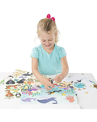 Melissa & Doug Reusable Sticker Pad, Habitats – With 150+ stickers! Creative Toys
