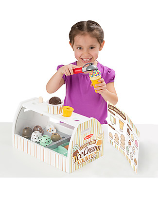 Melissa & Doug Scoop and Serve Ice Cream Counter, 20 pieces - Wonderful gift idea! Creative Toys
