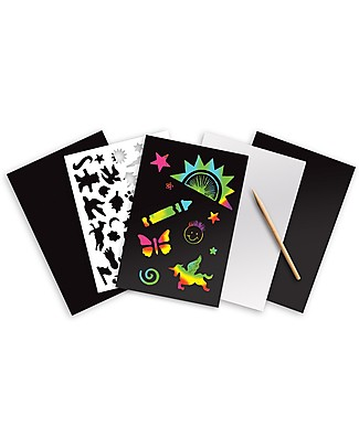 Melissa & Doug Scratch Art Sheets, Rainbow - 4 sheets Colouring Activities