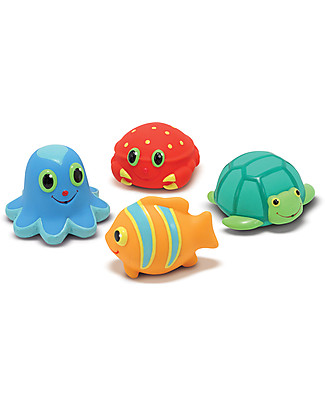Melissa & Doug Seaside Squirters - 4 Shapes - Play at the beach or pool Beach Toys