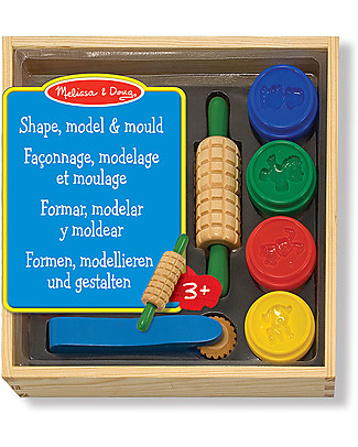 Melissa & Doug Shape Model & Mould Kit - Includes dough, 5 stamping cubes and 4 tools - Great gift idea! Art & Craft Kits
