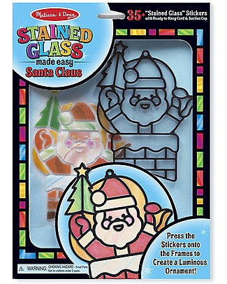 Melissa & Doug Stained Glass Made Easy - Santa Claus - 35+ Stickers! Stickers & Stamps Sets