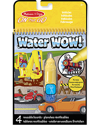 Melissa & Doug Vehicles Water Wow Assortment – 4 cards with refillable water pen! Creative Toys