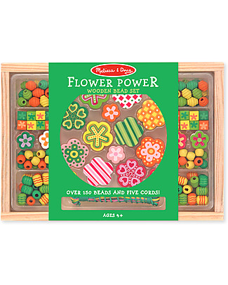 Melissa & Doug Wooden bead set - Flower Power Art & Craft Kits