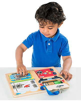 Melissa & Doug Wooden Lock and Latch Board - Helps developing fine motor skills and coordination! Montessori Toys