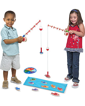 Melissa & Doug Wooden Magnetic Catch & Count Fishing Rod Set  Creative Toys