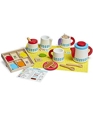 Melissa & Doug Wooden Tea Set, 22 pieces - Great gift idea! Traditional Toys