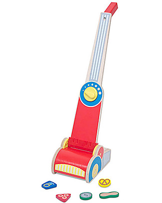 Melissa & Doug Wooden Vacuum Cleaner Play Set - 7 Pieces Story Making Games