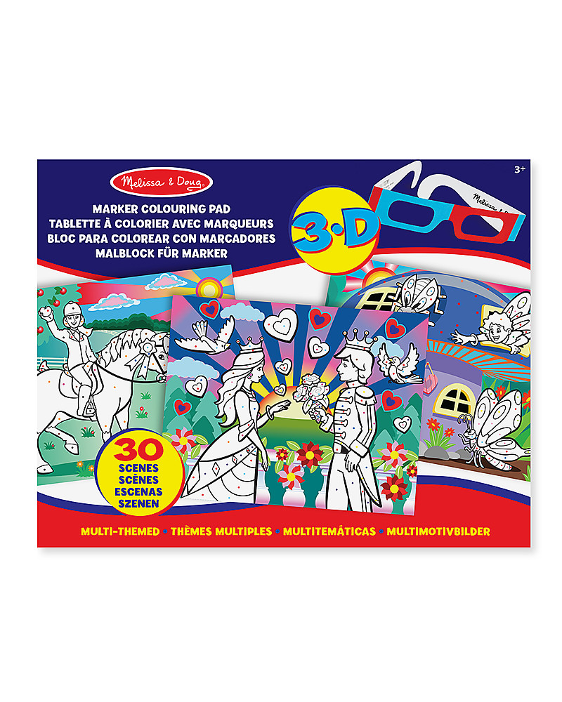 Melissa And Doug 3d Coloring Book Melissa And Doug 3d Coloring ...