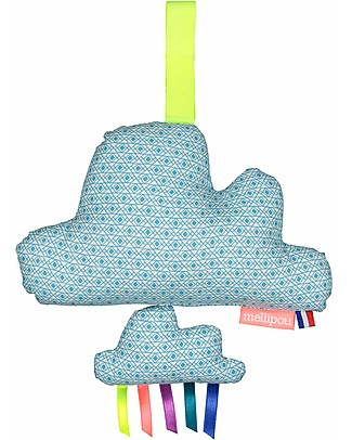 """Mellipou Carillon Minibam Cloud Grafo, Washable! - """"Light my Fire"""" - Made in France Musical Instruments"""