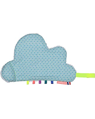 Mellipou DouDou Pacifier Comforter, Grafo Cloud - Made in France Doudou & Comforters