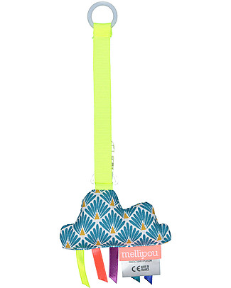 Mellipou Universal Pacifier Clip, Amy Duck Cloud - Made in France Dummies & Soothers