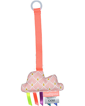 Mellipou Universal Pacifier Clip, Amy Rose Cloud - Made in France Dummies & Soothers