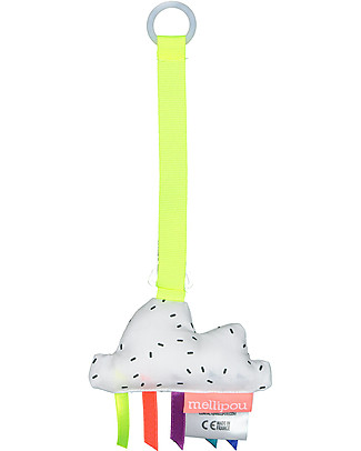 Mellipou Universal Pacifier Clip, Milky Cloud - Made in France Dummies & Soothers