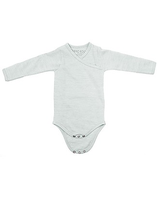 Merino Kids Bodysuit - Long Sleeve - Turtle Dove - 100% Natural Merino Wool: warm and not itchy! Short Sleeves Bodies