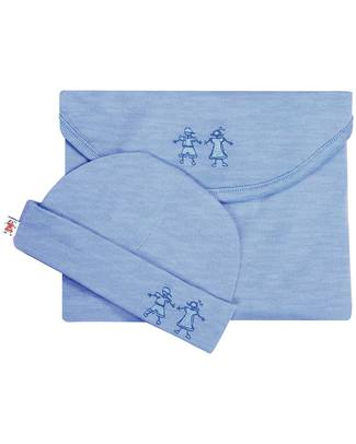 Merino Kids Cocooi ™ Swaddle and Beanie Hat Set Banbury - 100% Natural Merino Wool Swaddles
