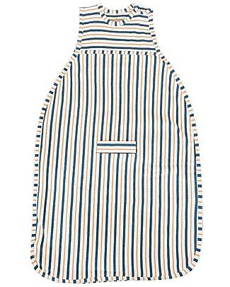Merino Kids Go Go Bag Duvet Weight (0-2 years)- Wildflower Collection - Navy Blue & Tangeriney - 100% Natural Merino Wool and Organic Cotton Warm Sleeping Bags