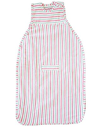Merino Kids Go Go Bag Duvet Weight (0-2 years) - Wildflower Collection - Pink & Aqua - 100% Natural Merino Wool and Organic Cotton Warm Sleeping Bags