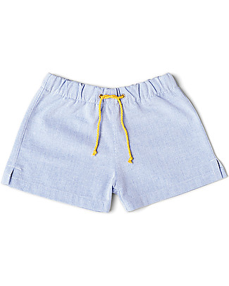 Mia Bu Milano Boy's Boxers, Piquet Chambray - Come in a gift box with a fairy tale included! Swimming Trunks