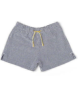 Mia Bu Milano Boy's Boxers, Vichy/Navy - Come in a gift box with a fairy tale included! Swimming Trunks