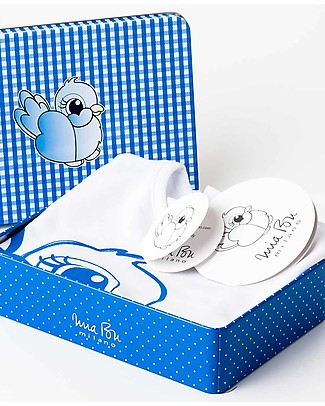 Mia Bu Milano Boy's T-Shirt, Blue Nightingale - Comes in a gift box with a fairy tale included! T-Shirts And Vests