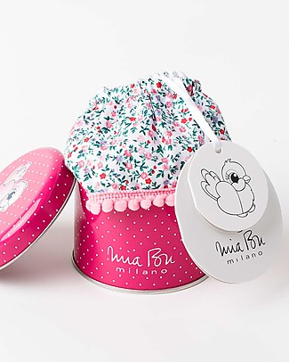 Mia Bu Milano Girl's Bloomer with Pompom, Flowers – Come in a gift box with a fairy tale included! Swimming Trunks
