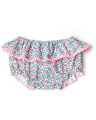 Mia Bu Milano Girl's Bloomer with Pompom, Flowers - Come in a gift box with a fairy tale included! null