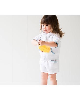 Mia Bu Milano Girl's Hooded Jumper with Pompoms, White – 100% cotton Sweatshirts