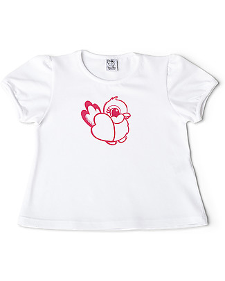 Mia Bu Milano Girl's T-Shirt, Pink Nightingale - Comes in a gift box with a fairy tale included! T-Shirts And Vests