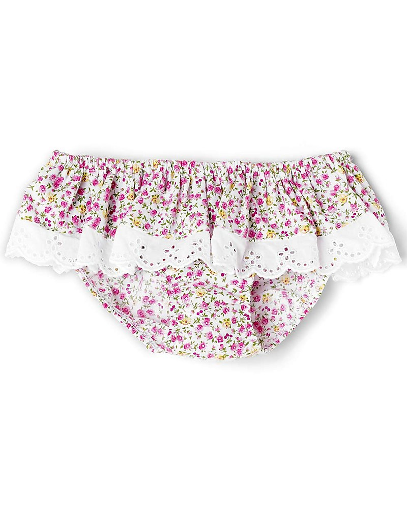 91b283af7301 Mia Bu Milano Girl's Swim Pants with Broderie Anglaise Frill, Flowers -  Come in a