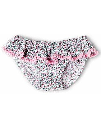 Mia Bu Milano Girl's Swim Pants with Pompom, Flowers – Come in a gift box with a fairy tale included! Swimming Trunks