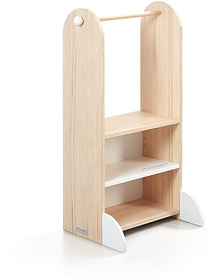 Micuna Little Thing Micussori Shoe Cabinet, Pine Wood - 50x38x105 cm Shelves
