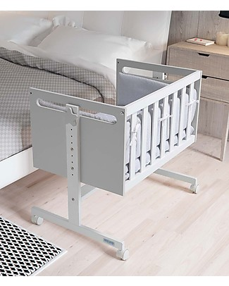 Micuna Mini-Cradle and Co-Sleeping You&Me, Grey - It becomes Desk or Sofa Co-Sleeping Cribs