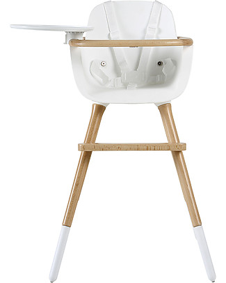 Micuna Ovo One Evoloutive High Chair, White Security Belts - From 6 months to 6 years! High Chairs