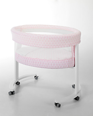 Micuna Textile Set for Smart Fresh Cot, Pink Polka Dots – Breathable and hypoallergenic! Cribs & Moses Baskets