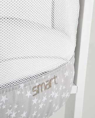 Micuna Textile Set for Smart Fresh Cot, Stars - Breathable and hypoallergenic! Cribs & Moses Baskets