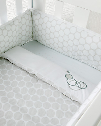 Micuna Textiles for Cododo Cot, Grey Polka Dots – With bumper and bed sheets! Cribs & Moses Baskets