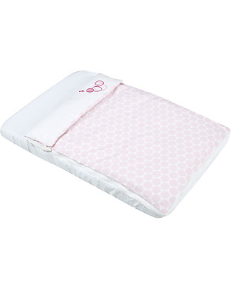 Micuna Textiles for Cododo Cot, Pink Polka Dots – With bumper and bed sheets! Cribs & Moses Baskets