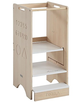 Micuna Transformable Trotta Learning Tower, Wood - 46x44x91 cm Montessori Towers