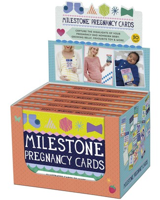 Milestone Baby Cards MILESTONE™ Pregnancy Cards - Box set of 30 cards - TEXT IN ENGLISH - The ideal present for the expecting mum! Baby's First Albums