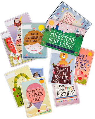 Milestone Baby Cards Milestone Baby Cards - ENGLISH TEXT -  Ideal gift for New Baby!  Baby's First Albums