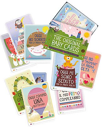 Milestone Baby Cards Milestone Baby Cards -TEXT IN ITALIAN - Ideal gift for New Baby!  Baby's First Albums