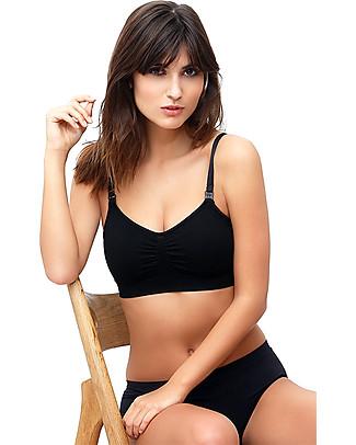 Milker Barbara Nursing Bra with Click Opening  - Soft Bamboo Fibres - Black Bras